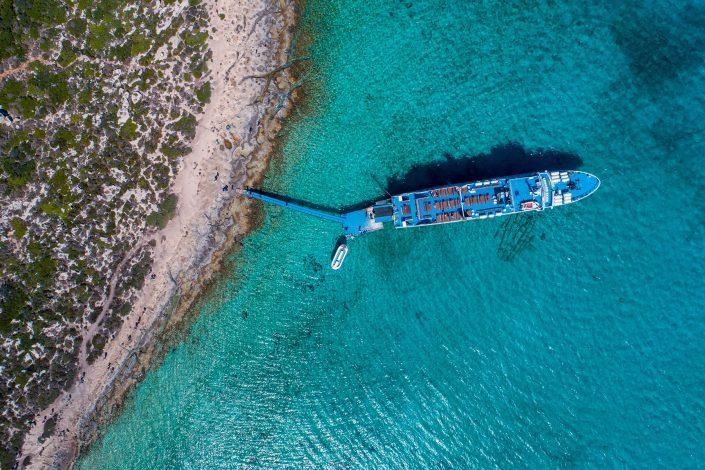 Boat Crete Drone Photography Alex Axon
