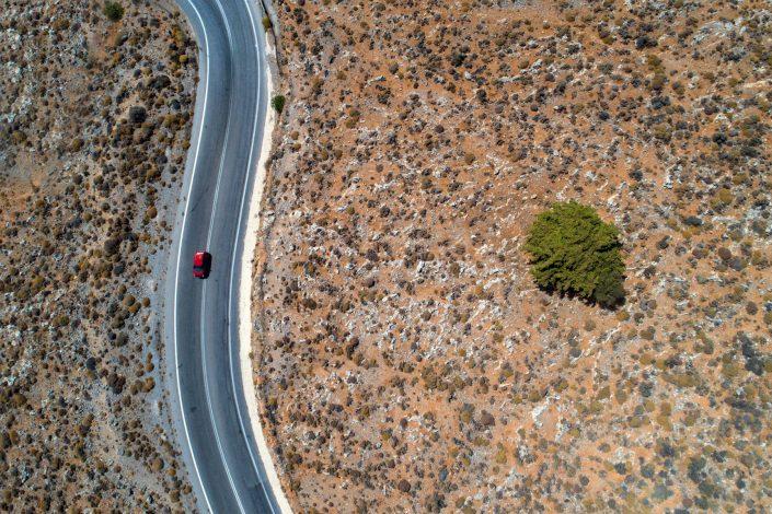 Little Red Car Alex Axon Photo Drone Aerial