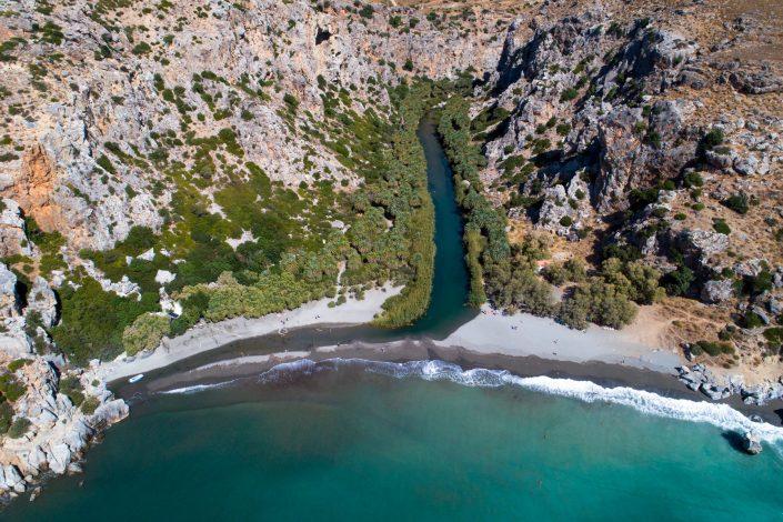 Preveli Beach Crete Drone Photography Alex Axon
