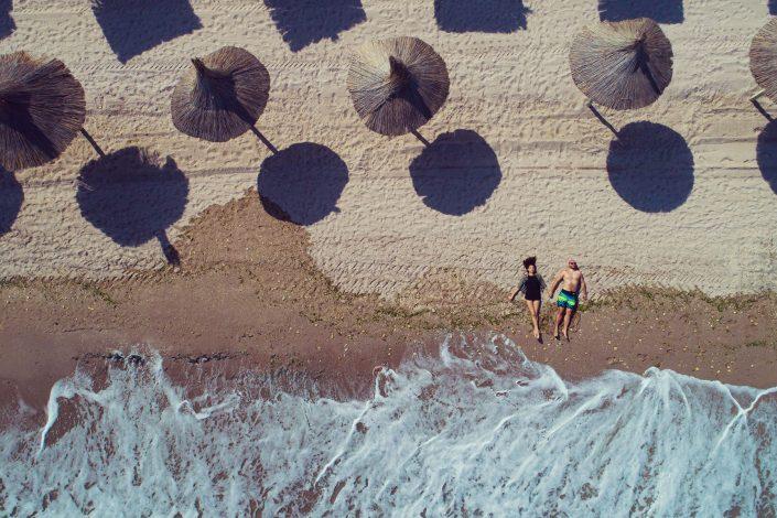 Couple Love Beach Drone Photography Alex Axon