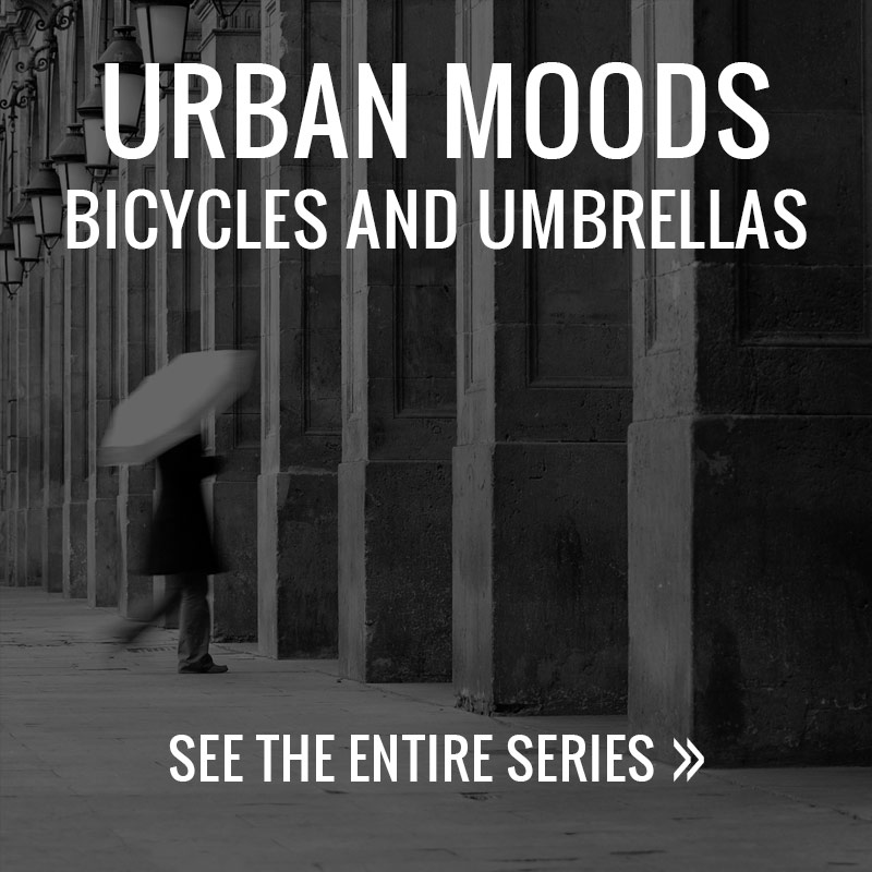 Urban Moods - Bicycles and Umbrellas