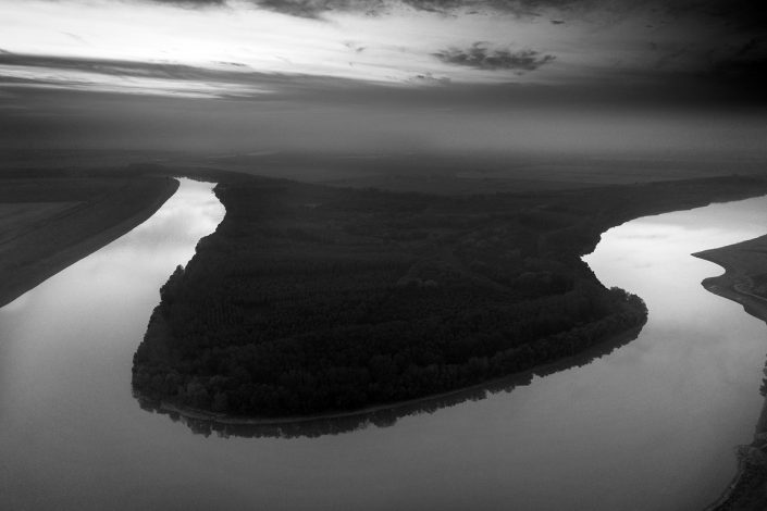 Black and White Nature Photo Drone Alex Axon