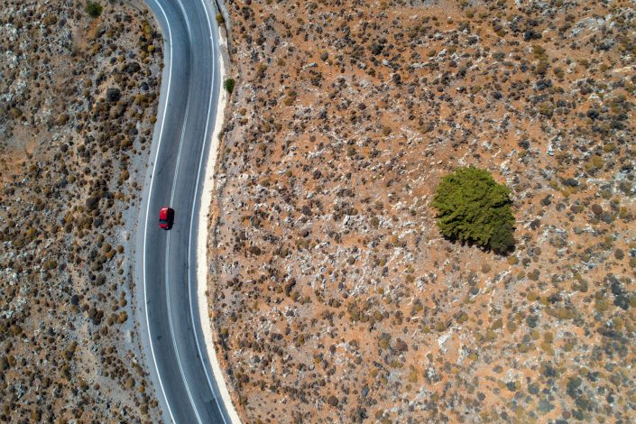 Little Red Car Alex Axon Photo Drone Aerial