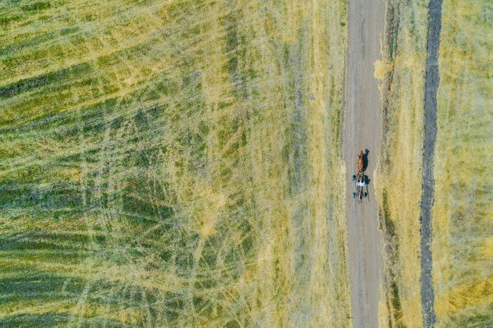 Man and Horse Alex Axon Photo Drone